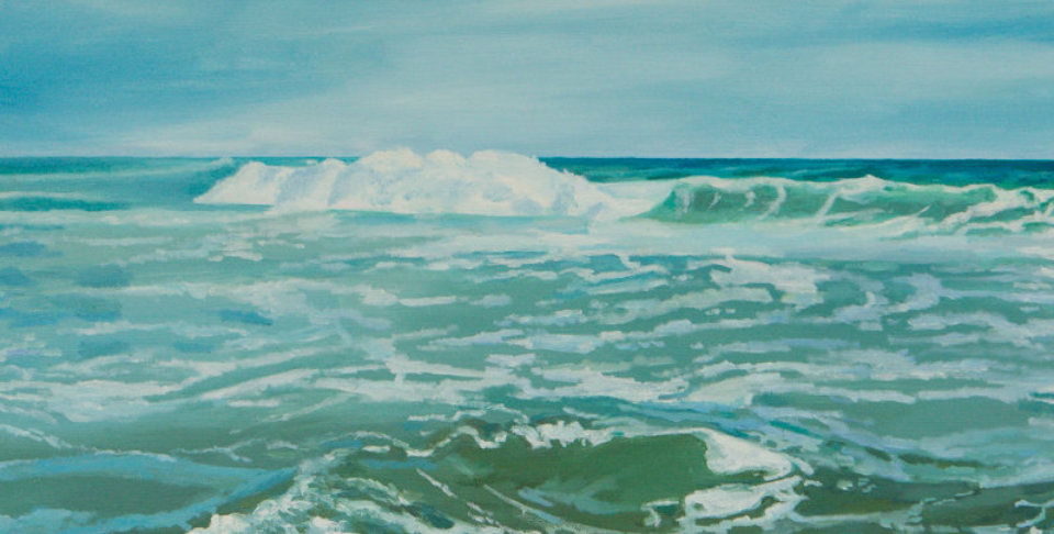 Sea scape painting in oils by Elaine Conneely